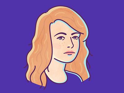 Self-Portrait person illustration character girl face avatar portrait self-portrait