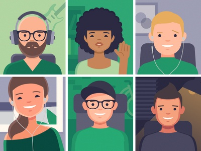 Syncing company culture as a remote team employees call illustration people remote team