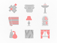 Icons for an interior designer