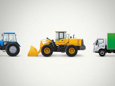 Trucks car truck icons