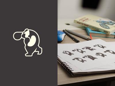 Boxer Bear illustration design design exercises mark animal symbol brand logo design