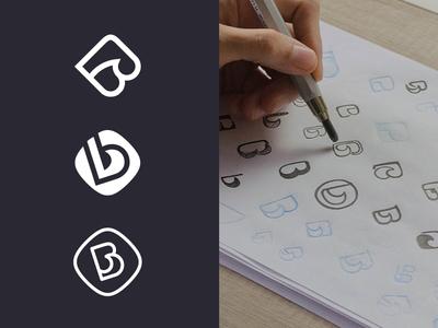 Blueprint Eyewear monogram identity symbol mark logo brand logo design monogram