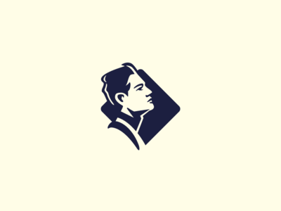 Face Logomark vector negative space design exercises identity symbol mark brand logo design