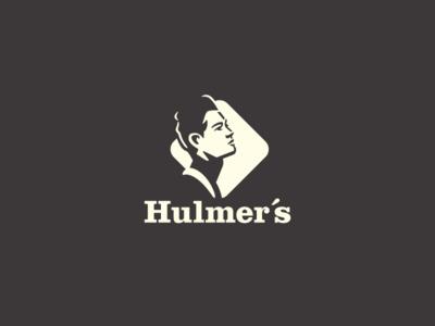 Hulmers Logo typography branding design negative space design exercises identity logo symbol brand logo design
