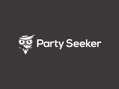Party Seeker logo symbol vector branding negative space animal logo identity brand logo design