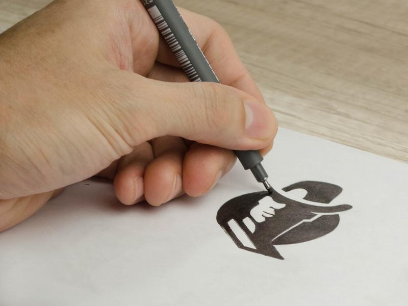 Logomark sketch staedtler sketchbook sketching sketch logomark identity design negative space mark logo symbol brand logo design
