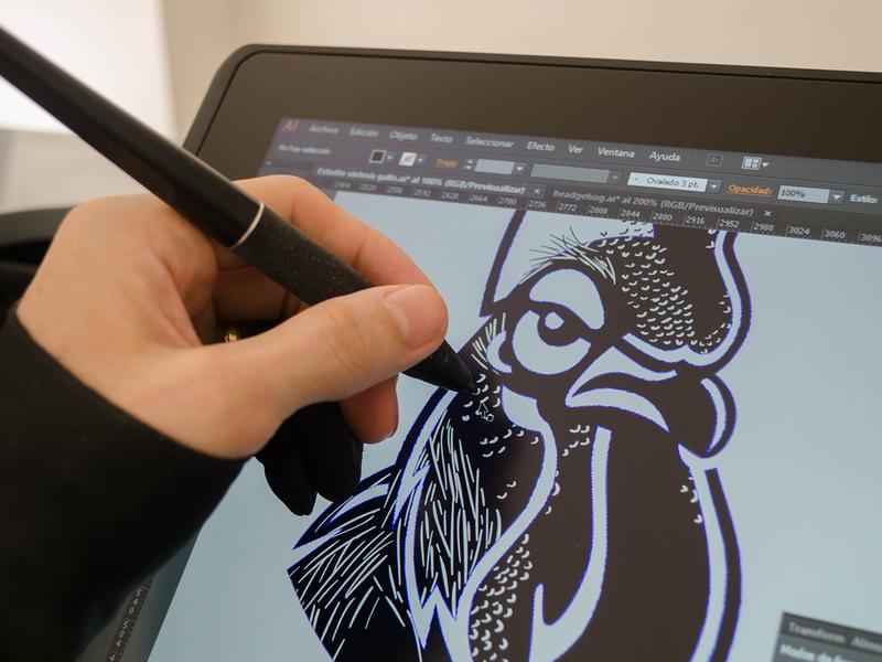 Mad Rooster rooster logo rooster tablet drawing digital illustration tshirtdesign tshirt art tshirt negative space vector illustration design exercises animal