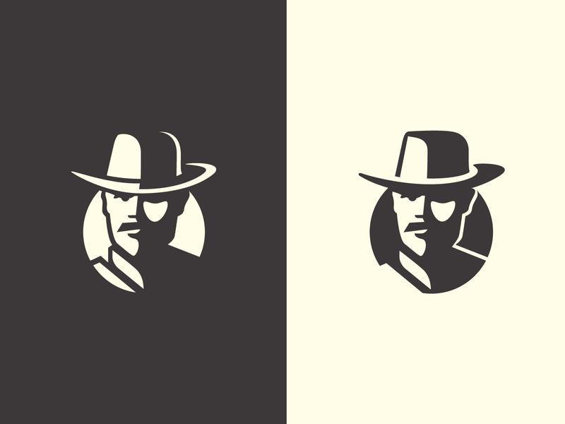 Argentinian Cowboy iconic logo argentina vector design negative space mark logo identity brand symbol logo design