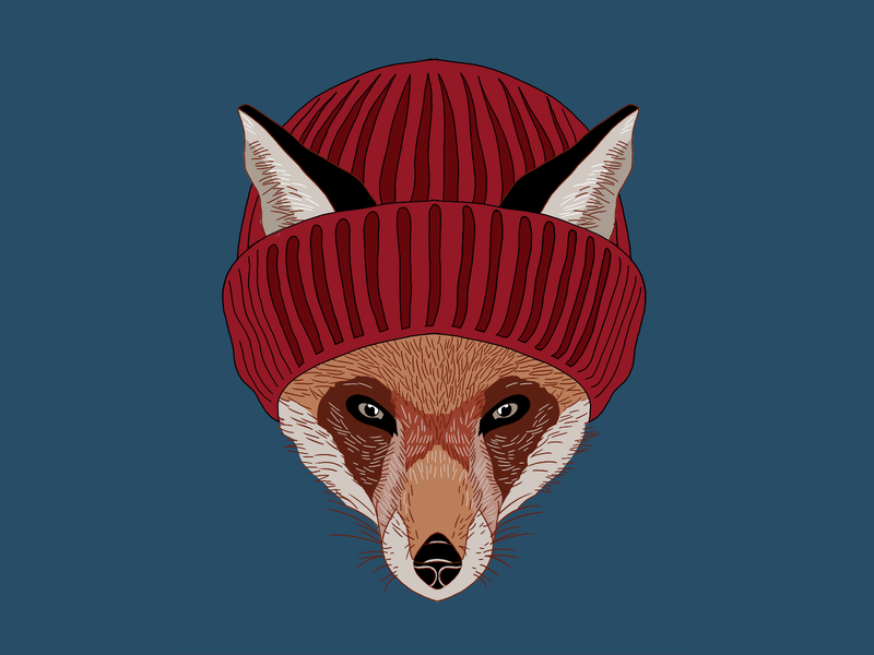 Fox Illustration graphic tee apparel logo apparel tshirt design tshirt art brand design camping adventure outdoor illustration animal illustration animal fox