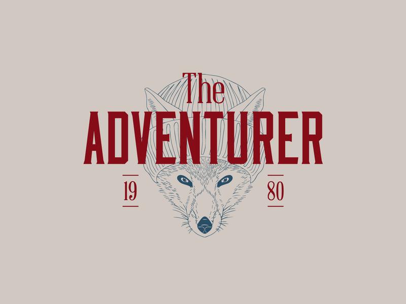 The Adventurer (WIP) vintage illustration brand vintage logo animal illustration animal logo adventure outdoor logo fox logo fox
