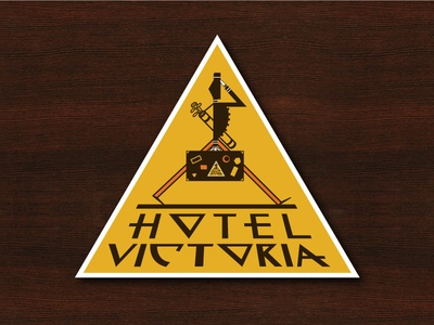 Hotel Victoria - Vintage Luggage Label