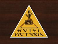 Hotel Victoria - Vintage Luggage Label