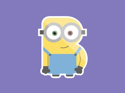 B for Bob the Minion - Blackformat Design Community