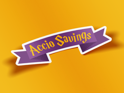 Accio Savings Sticker
