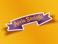 Accio Savings Sticker
