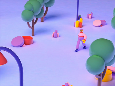 3D WALK CYCLE 3d design 3d rigging modeling 3d nature double walking cool walk nature render 3d character 3d motion 3d animation 3d walk 3d cinema4d cinema modern design motion colors animation