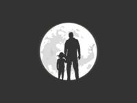 Dad & Daughter Illustration