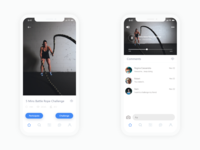 The Peak | Challenge app design