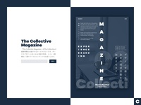 The Collective Magazine - Landing Page Design