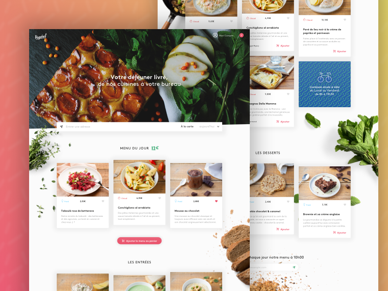 HQ Food Delivery Homepage food layout website webpage webdesign web landing home