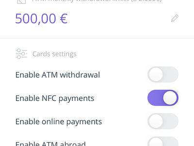 Qonto iOS App (first draft) banking settings card bank app qonto