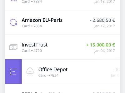 Qonto iOS App (first draft) index transaction qonto card banking bank app