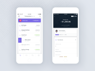 Qonto iOS App (first draft)