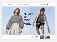 Clothing store home page