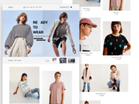 Clothing store landing page