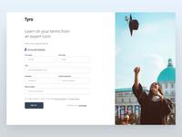 Tyro-App Sign up