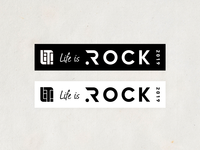 Life is Rock 2019 Sticker sticker rock logo