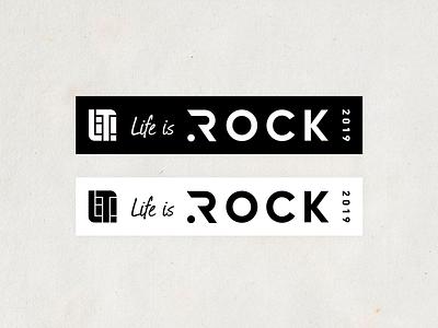 Life is Rock 2019 Sticker sticker rock logo