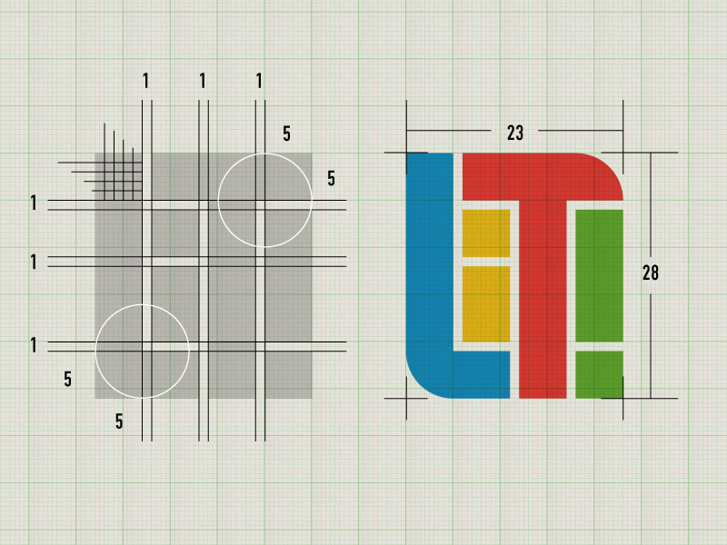 Life is Tech ! Logo vi ci grid colorful square geometric illustrator logo