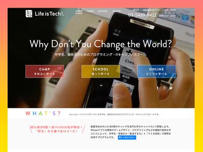 Life is Tech ! Service Website coding website web