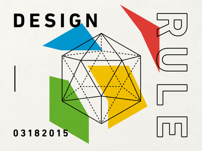 DESIGN RULE geometric presentation graphic