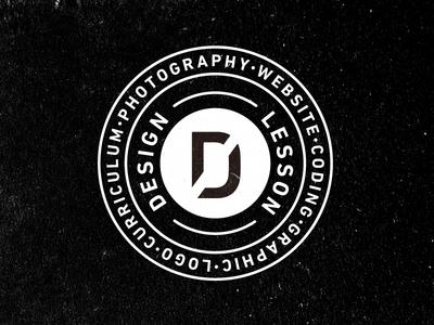 Designless Concept circle philosophy emblem typography logo