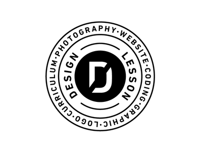 Designless Concept White ver. illustrator typography philosophy emblem logo
