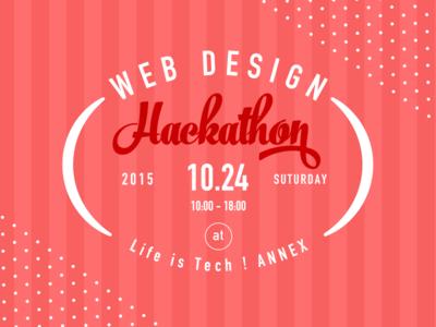 Web Design Hackathon girl emblem typography banner event