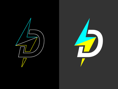 Design Labo Logo labo lightening neon dark logo