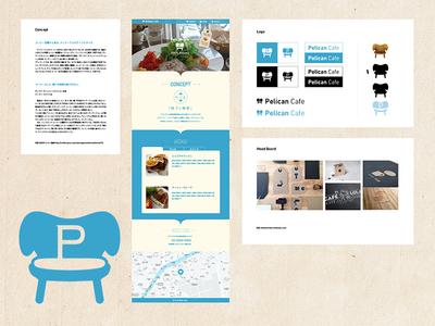 Pelican Cafe logo concept cafe vi web