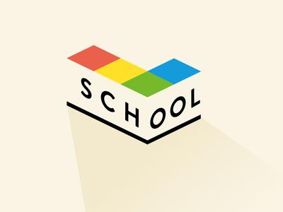 Life is Tech ! School life is tech colorful logo school