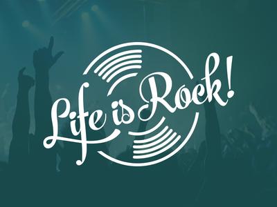 Life is Rock ! live rock music logo