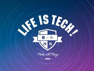 Xmas Camp 2015 by Life is Tech ! life is tech magic xmas emblem logo