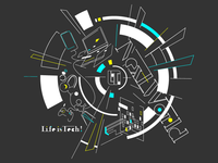 Life is Tech ! Next World (black)