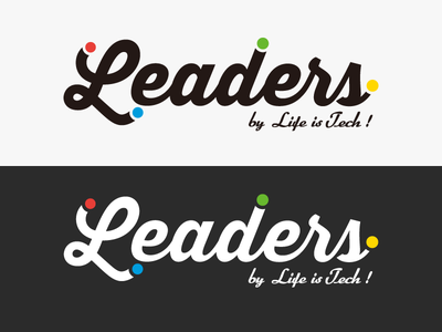 Life is Tech ! Leaders Logo illustrator lifeistech vi logo