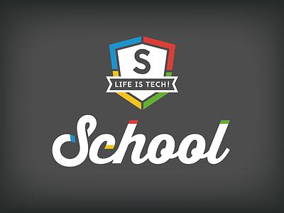Life is Tech ! School Logo vi school logo