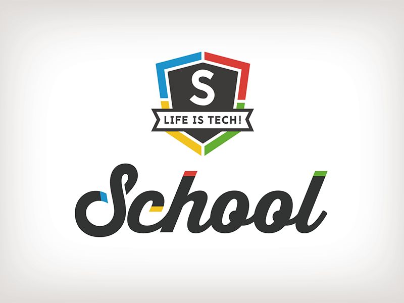 Life is Tech ! School Logo school logo