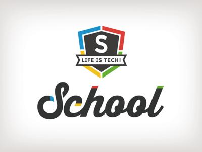 Life is Tech ! School Logo school logo