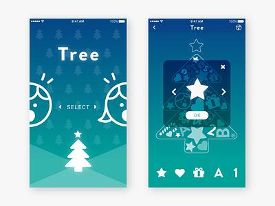 Tree App UI Design appboxawards2016 xmas xd illustrator ui