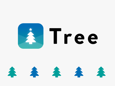 Tree App Icon Design logo icon illustrator xd xmas appboxawards2016